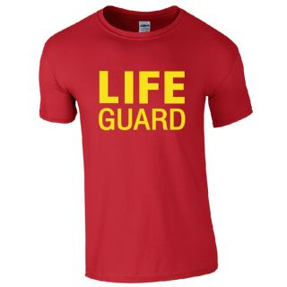 LIFE GUARD RED T-SHIRT